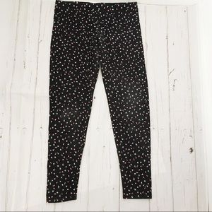 LC Lauren Conrad Black Floral Leggings Size Medium